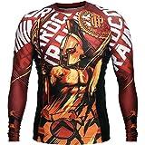 Rashguard Hardcore Training Sparta Red-l MMA BJJ Fitness Grappling Camiseta de compresión
