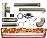 Kit de tubos de acero inoxidable para chimenea, estufa...