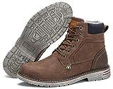 Hombres Botas de Senderismo Zapatos de Trekking Botas Tácticas Transpirables Militar Senderismo Zapatos Botas de Invierno Marrón 43 EU