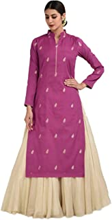 Ethnic Empire Women's Banglory Silk Embroidery Semi Stitched Sharara Suit