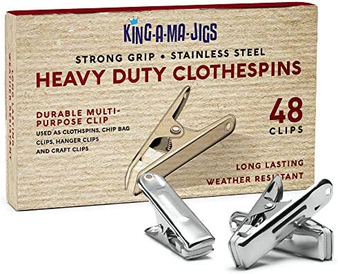 48 Pack Long Lasting Stainless Steel Clothespins Strong Grip Weather Resistant Multipurpose product image