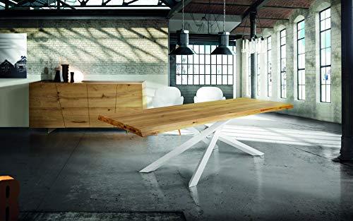 Fashion Commerce Tavolo FC1642, Legno massello, Rovere Naturale, 160x90 cm