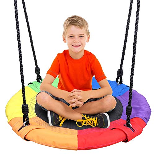 Odoland 24 inch Children Tree Swing SwingSeat, Outdoor...