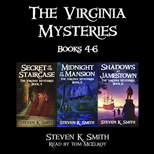 The Virginia Mysteries Box Set 2: Secret of the Staircase, Midnight at the Mansion, Shadows at Jamestown audiobook cover art
