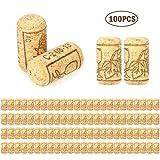 Botella de Champagne tapón del vino Set La Barra de Herramientas de la botella de vino rojo del tapón de sellado de madera de roble Tapas calientes 100pcs / set de vino reutilizables Tapones de madera