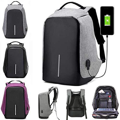 ZFstores Heren Rugzak Casual Mode Laptop Antidiefstal Notebook Schooltas met USB-poort