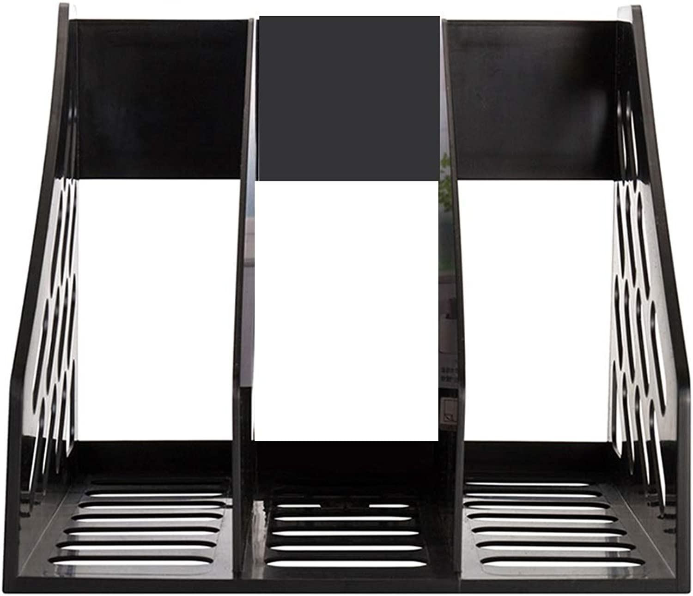 Verdicken Sie Dateihalter Informationsbox Aufbewahrungsbox Bücherregal Bürobedarf Dateikorb Ordner Ordner Ordner Multi-Layer Student Desktop Kunststoff (Farbe   Schwarz, größe   270mmx240mmx255mm) B07PZ22L7H | Bevorzugtes Material  6b6ccf
