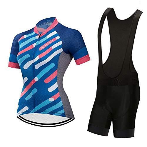 JTCT Cycling Skin Suit Zomer vrouwen ademende wicking shorts korte mouw pak hoge dichtheid spons kussen professionele paardrijden Moisture Wicking pak