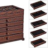 Immagine 2 songmics scatola portagioie in legno