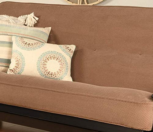 Futon Cover Only Pacific Fabric Premium Collection Fits 6-8 inch Futons Mattress Full Size (Peru Brown)