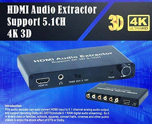 ICT ESTRATTORE HDMI Audio da HDMI A 5.1 Audio ANALOGICO Dolby AC-3/DTS 4K 3D