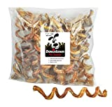 Downtown Pet Supply 7' - 9' Curly Spiral Bully Sticks, Bully Springs for Dogs Made in USA - Regular Select Thick – Odorless Dog Chew Treats, (5 Pack)