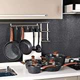 Benecook Nonstick Cookware Sets Dishwasher Safe - 12 Piece Kitchen Cooking Pots and Pans Set
