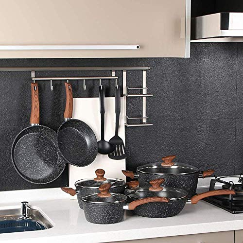 Benecook Nonstick Cookware Sets Dishwasher Safe - 12 Piece Kitchen Cooking Pots and Pans Set