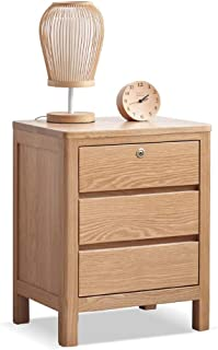 Bedside Table Bedside Table, Simple Lockable Drawer Bedside Small Cabinet Bedroom Bedside Storage Cabinet, Suitable for: L...