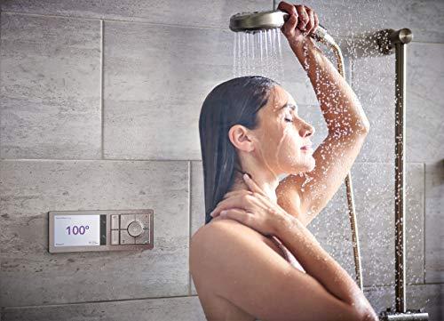 Moen TS3302BL U by Moen Shower Smart Home Connected Bathroom Controller, 2-Outlet Digital Wall Mounted, Matte Black