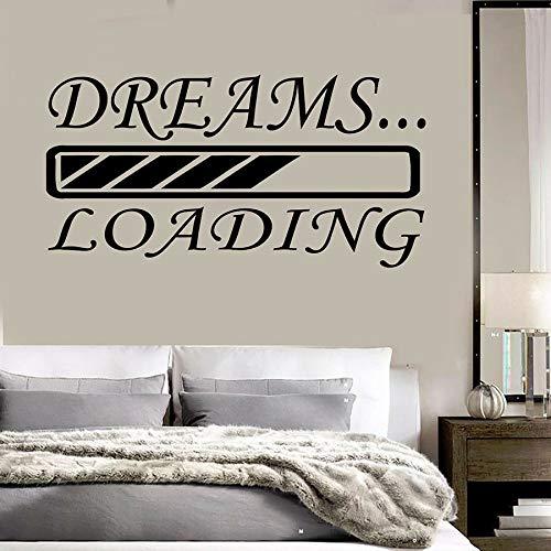 Kinderdagdecoratie, vinyl, muursticker, voor slaapkamer, decoratie, droom, woonkamer, art, zelfklevend, afneembaar
