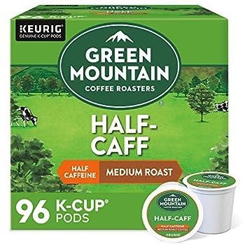 Green Mountain Coffee Roasters Half Caff Single-Serve Keurig K-Cup Pods Medium Roast Coffee 96 Count