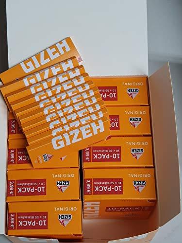 Gizeh Original gelb kurzes Papier / Paper 100 Heftchen a 50 Blatt = 5000 Blatt