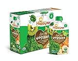 Happy Tot Organic Stage 4 Baby Food Love My Veggies Spinach Apple Sweet Potato & Kiwi, 4.22 Ounce...