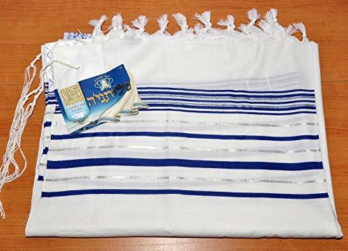 Talitnia Wolle Tallit Schals Blau & Silber Modell 60 blau / silber