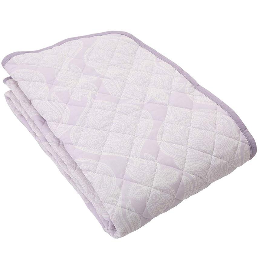 バイオリニスト事実最初は昭和西川 2重 ガーゼ 敷きパッド 洗える パッドシーツ シングル 100×205cm 直販限定商品 バロール (ピンク)