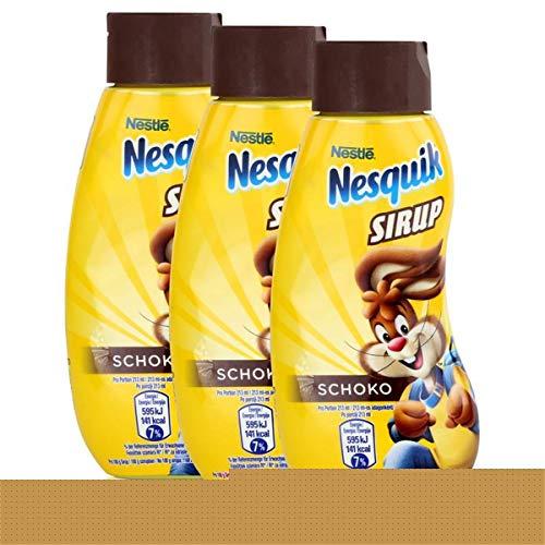 Nestle Nesquik Schoko Sirup 300ml - Extra schokoladig im Geschmack (3er Pack)