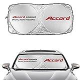 AUTO-P Fit for Honda Accord (1990-2021) Sunshade Windshield Visor Cover for Accord Window Sun Shade UV Protect Car Window Film(63' X 35.4')