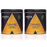 Cúrcuma con Jengibre y Pimienta Negra con PROBIÓTICOS para 125 días (1520mg) | 2 x 250 Cápsulas | Antiinflamatorio y Antioxidante Natural | Formula Avanzada | Certificación Ecológica