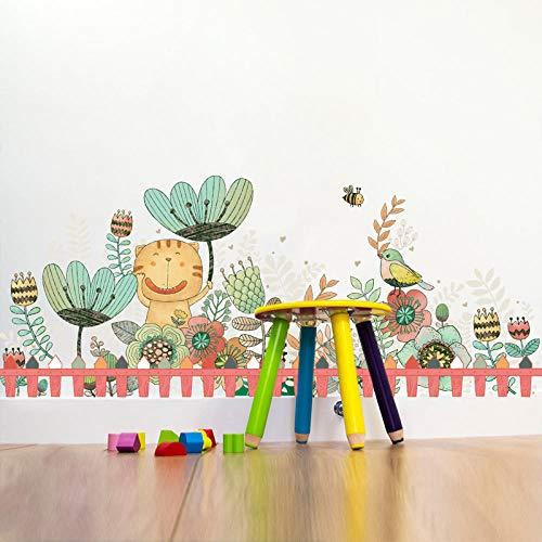 Sticker mural Dessin animé Animal Dessin Stickers Décorations murales de chambre d'enfant Secret Garden-Mm8021B-B- (5-1-2) -Secret Garden-Mm8021C-C- (5-3-2)