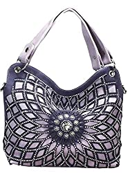 Lavender Double Handle Starburst Bling Handbag