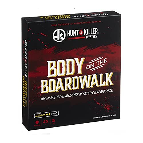 Hunt A Killer Body On The Boardwalk, Immersive Murder Mystery Game -Take on The Unsolved Case for Independent Challenge, Date Night, or with Family & Friends as Detectives for Game Night, Age 14+