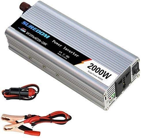 KPL puissance onduleur onde pure sinusoïdale 1000W / 2000W onduleur de voiture onde sinusoïdale pure 12V / 24V DC à...