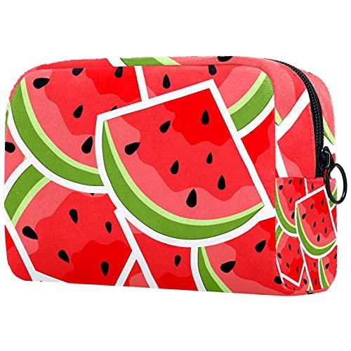 Bolsas de cosméticos para Mujeres, Bolsas de Maquillaje, neceseres espaciosos, Accesorios de Viaje, Regalos, Popular sandía de Frutas de Verano