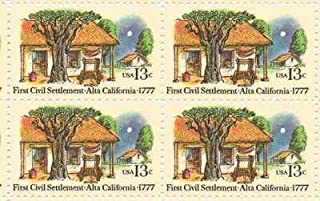 First Civil Settlement Alta CA Set of 4 x 13 Cent US Postage Stamps Scot 1725