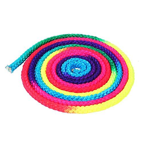 Dioche Springseil, Seilspringen Regenbogen Farbrhythmische Speed Rope Sport Wettbewerb Kunst Trainings Seil 2.8m