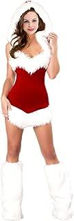 Women's Christmas Costume Holiday Fantasy Santa Clause Mini Dressess