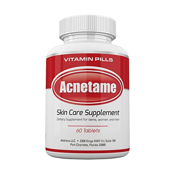 Acne treatment products Acnetame- Vitamin Supplements for Acne Treatment, 60 Natural Pills