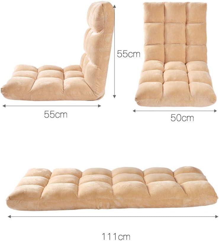 Fauteuil rembourré fauteuil lounge fauteuil 16 grille canapé style japonais chambre Tatami (Couleur : A) D