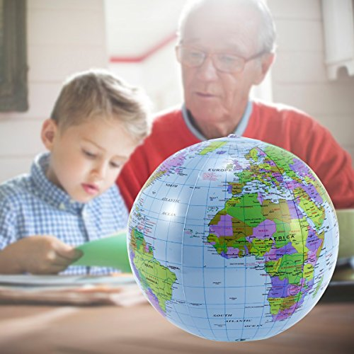 Aufblasbar Globus 40cm Atlas Weltkarte Earth Strand Ball Erdkunde Zum Aufblasen Spielzeug