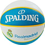 Spalding EL Team Real Madrid SZ.7 (83-787Z) Basketballs, Juventud Unisex, White/Blue, 7