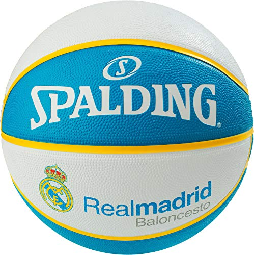 Spalding EL Team Real Madrid SZ.7 (83-787Z) Basketballs, Juventud Unisex, White/Blue, 7