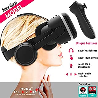97c8cf768313 Irusu Play VR Plus VR Headset Box with Headphones and VR Remote Controller  for iOS and