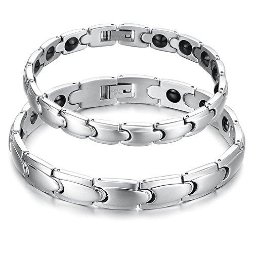 Starista Jewelry-Bracciale magnetico in titanio unisex, germanio Power Health Wristband