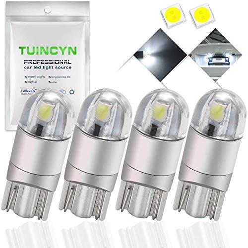 TUINCYN T10 194 168 W5W weiße Glühbirnen Super Bright 12V-16V 4er Pack