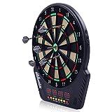 COSTWAY Elektronische Dartscheibe Dartboard Dartautomat LED Dartspiel Dartpfeil + 6 Pfeile