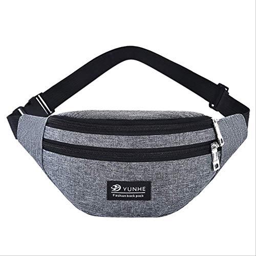 Generic Brands Sac ceinture de sport de plein air ultra fin compatible avec iPhone Xr Xs Max 8 Plus Samsung S10 16,5 cm Convient pour le fitness, la promenade, le vélo Accessoires de voyage gris