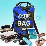 BESLIME Wasserdichter Packsack, Schwimmender Trockenrucksack Strandtasche Leichter Trockensack für...