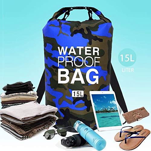 Beslime Waterdichte strandtas, waterbestendig, drijvend voor rugzakken, licht, voor strand, vissen, zwemmen, kamperen, 15 l