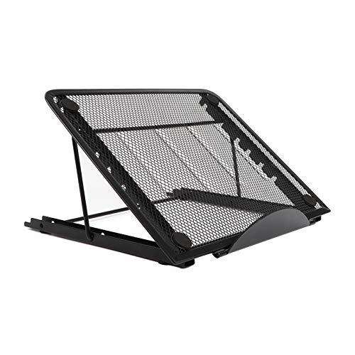 Laptop Stand, Foldable Ergonomic Metal Laptops Holder Stands, 6-Level Angle Adjustable Tablets Stand for Desk, Black